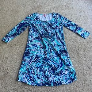 Lilly Pulitzer Blue Pattern Dress